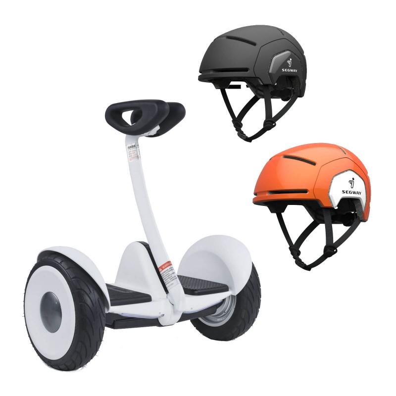 Zestaw Pojazd elektryczny Ninebot S + Kask dziecięcy Segway + Kask dla dorosłych Segway (L/XL)